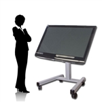 Trade Show Touch Screen TV Cart