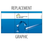 Campaign Trade Show Counter Replacement Graphic