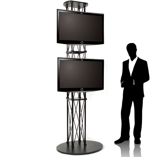 Ez Fold Trade Show Dual Tv Stand Up To 55 Large Flat Panel Monitors