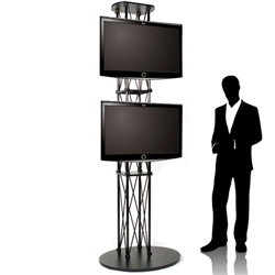 Ez Fold Trade Show Dual Tv Stand Up To 55 Quot Large Flat