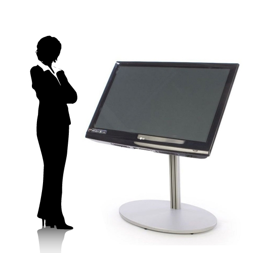 Trade Show Touch Screen Tv Stand Up To 70 Large Monitors