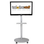 Trade Show Portable TV Monitor Cart