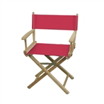 Solid Color Table Height Portable Director Chair