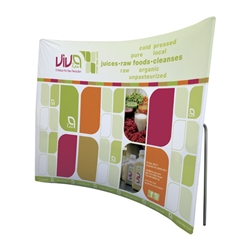 10ft ContourFit Curve Tension Fabric Replacement Graphics