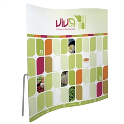 8ft ContourFit Wave Tension Fabric Replacement Graphics