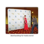 Step and Repeat Media Backdrop