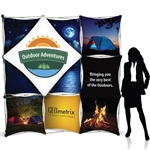 7.5ft Geometrix 3-D Tension Fabric PopUp Display