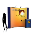 Campaign II 8ft Curved Pop Up Display