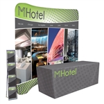 8ft EuroFit Traveler Trade Show Package8ft EuroFit Tension Fabric Display