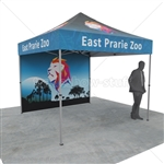 Event Tent Canopy w/ Back Wall