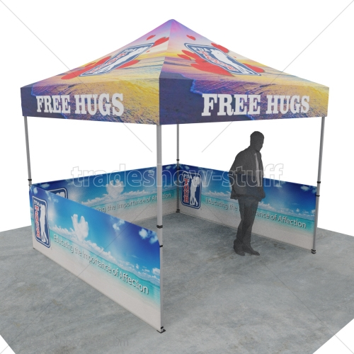 Event Tent 10 x 10 Full Print Canopy w/ Half Wall Package