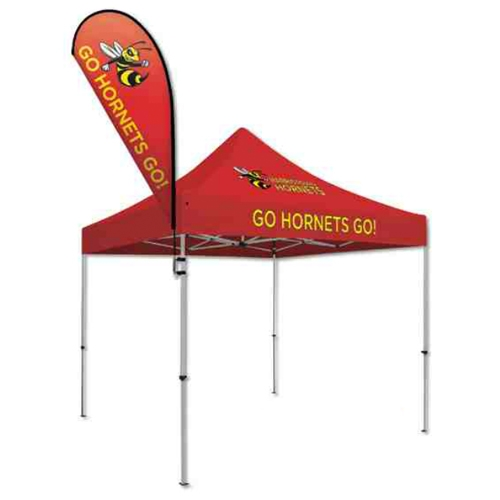 View Larger Photo Email ...  sc 1 st  tradeshow-stuff.com & Tear Drop Tent Flag w/ Flag Mount Kit - tradeshow-stuff