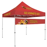 Quarter Wall Event Tent Custom Banner