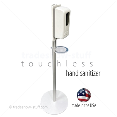 Touchless Hand Sanitizing Stand; Made in USA