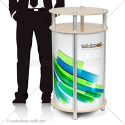 Circle Portable Modular Trade Show Counter
