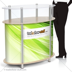 Ellipse Portable Modular Trade Show Counter