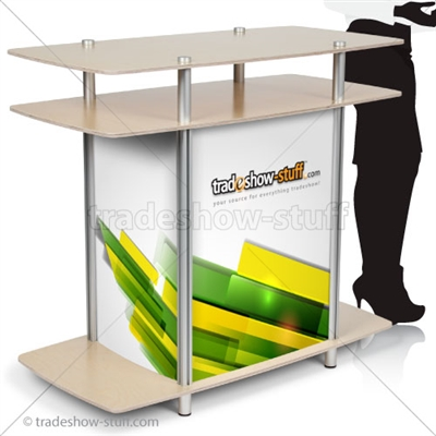 Large Rectangle Trade Show Counter
