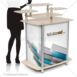 Twist Multi-Tier Modular Trade Show Counter