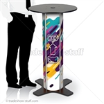 Round Bar Table Charging Station