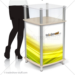 Square Portable Modular Trade Show Counter