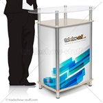 Triumph Trap-Ellipse Trade Show Counter