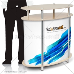 Twist Ellipse Portable Trade Show Counter