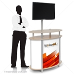 Portable Trade Show Monitor Kiosk Counter