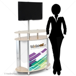 Portable Showcase Trade Show Monitor Kiosk