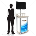 Trade Show MultiMedia Monitor Kiosk