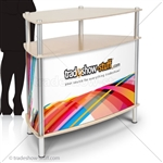 Trapezoid Portable Trade Show Counter (w/Graphics)