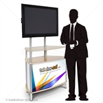 Trapezoid Portable Monitor Kiosk (w/Graphics)