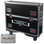 "26"" - 32"" LCD/Plasma Road Case -  Flat Panel Monitor Gator Case"