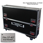 "37"" - 43"" Gator Road Case -  For Dual (x2) Flat Panel Monitors"