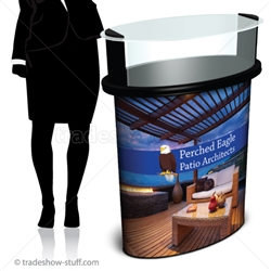 SOLO Mini Glass Portable Trade Show Podium