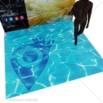 Custom Printed Floor Flexible Show Flooring