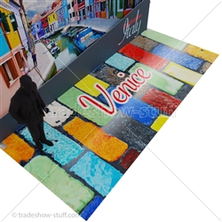 High-Gloss, Custom Printed Rollable Trade Show Flooring
