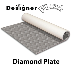 Designer Flex Diamond Plate Rollable Vinyl Floors