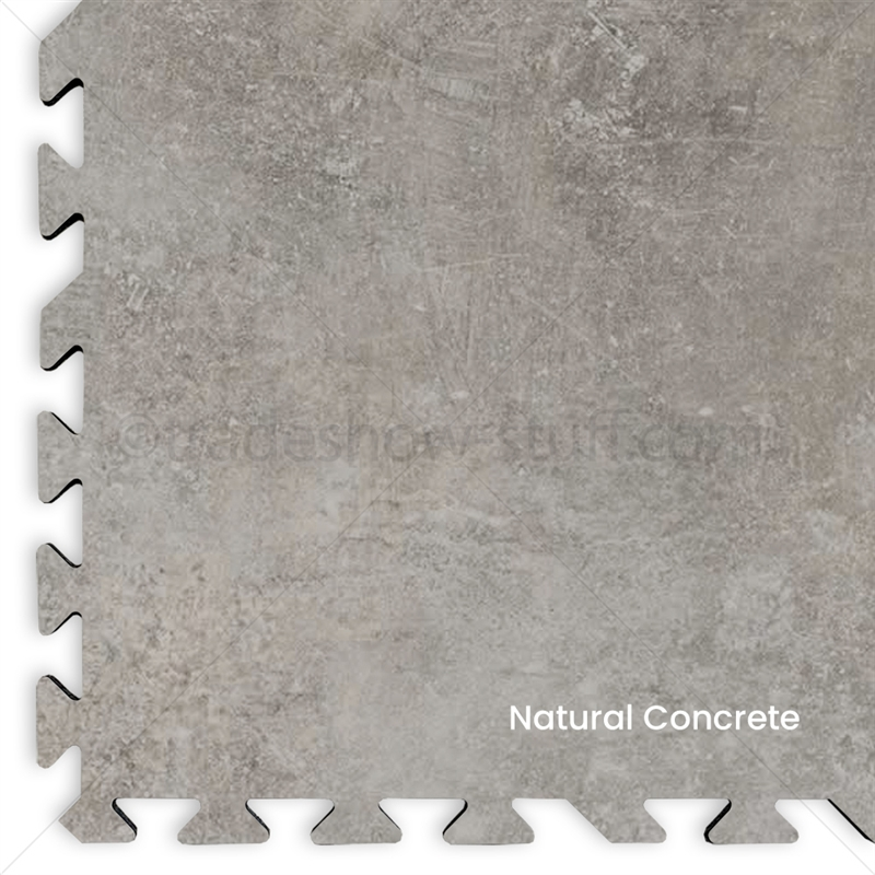 20 X 20 Comfort Flex Concrete Vinyl Interlocking Tile Flooring