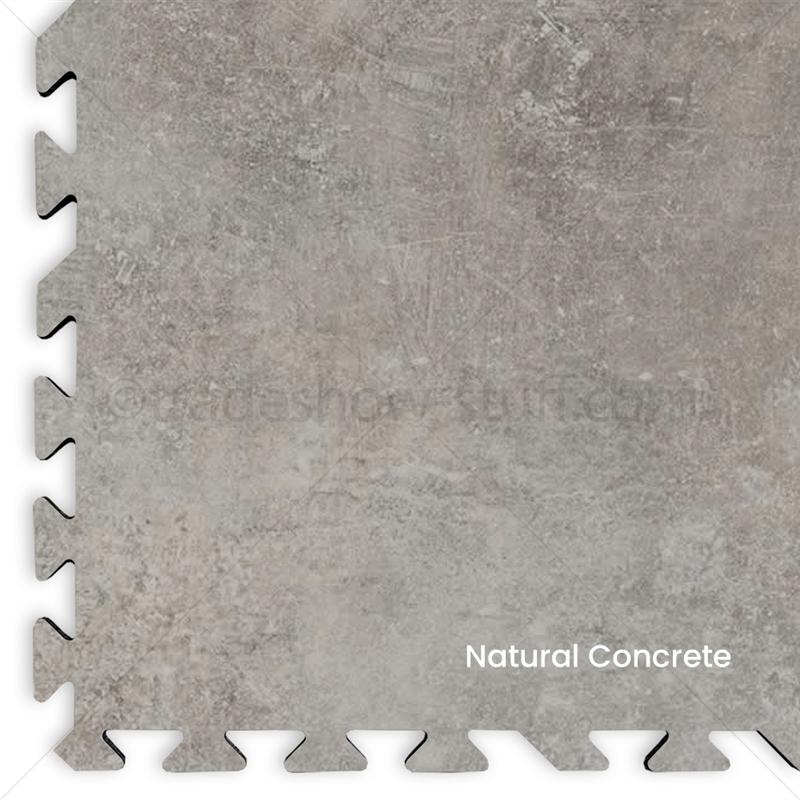 Concrete Vinyl Interlocking Tile Flooring