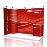 ISO Frame Wave Trade Show Display 13.25' Kit