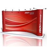 ISO Frame Wave Trade Show Display 18.5' Kit
