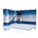 ISO Frame Wave Trade Show Display 23.75' Kit
