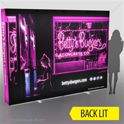 Backlit Captivate 10ft Fabric PopUp Display