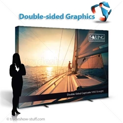 Captivate 10ft Fabric Double-Sided Display