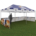 Custom Canopy with Half Walls
