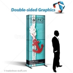 Captivate Tower Fabric Double-Sided Display