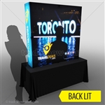 Backlit Captivate 5ft Fabric Pop Up Display