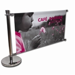 Outdoor Cafe Barrier Banner Extension