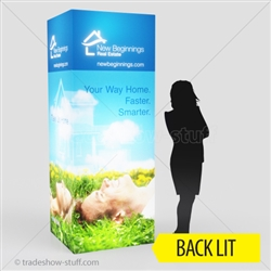 Backlit Tower Display Triumph 8ft 4-sided