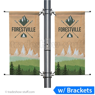 18in Double-Span Street Pole Banner